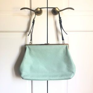 KATE SPADE mint green and gold Leather Purse